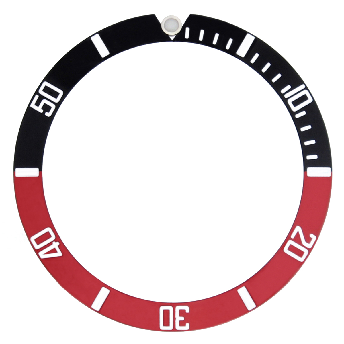 BEZEL & INSERT  RETAINING FOR SUBMARINGER PLASTIC MODEL 5508, 5512, 5513 WATCH RED GOLD FONT