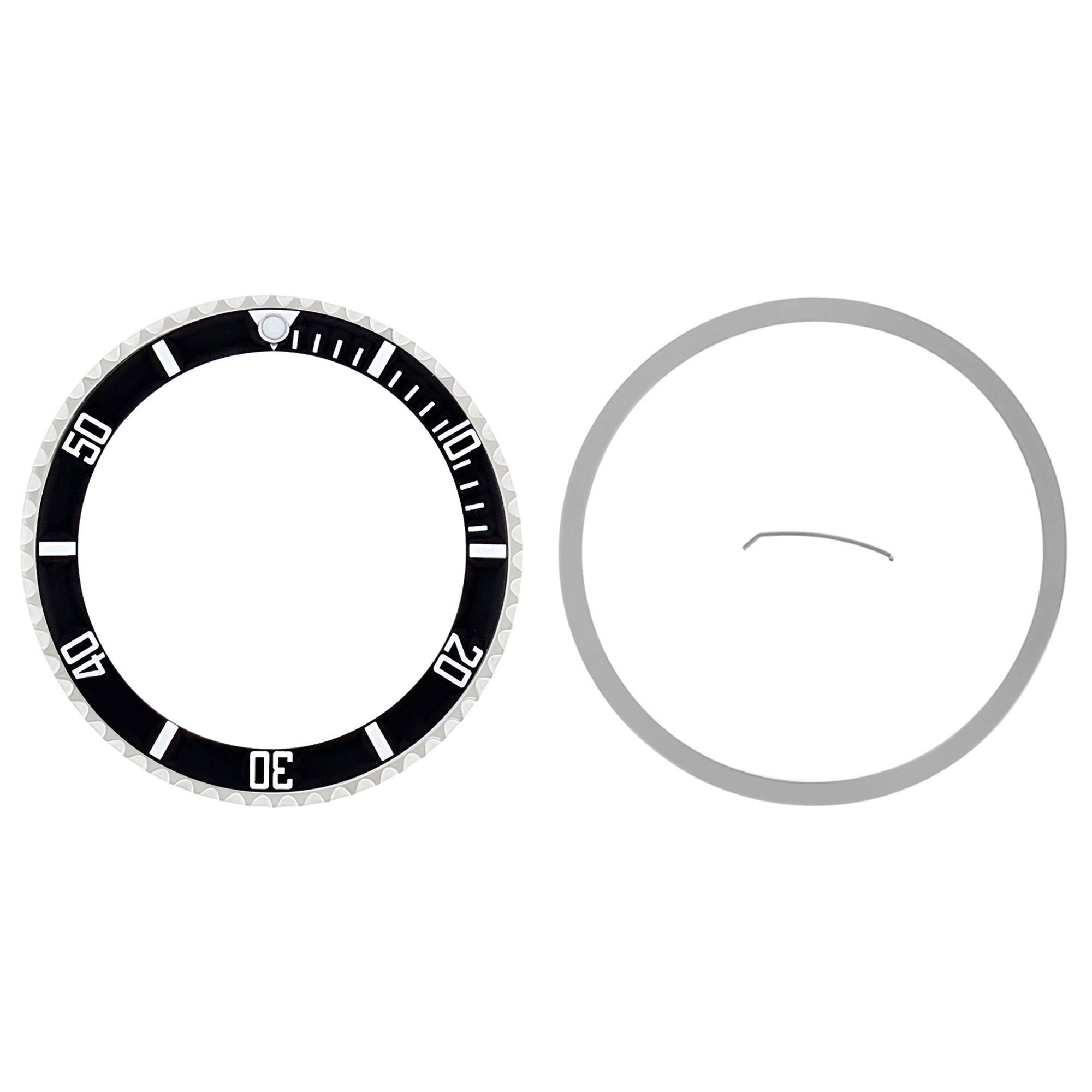ROTATING BEZEL & INSERT FOR ROLEX NO DATE SUBMARINER 14060, 14060M BLACK
