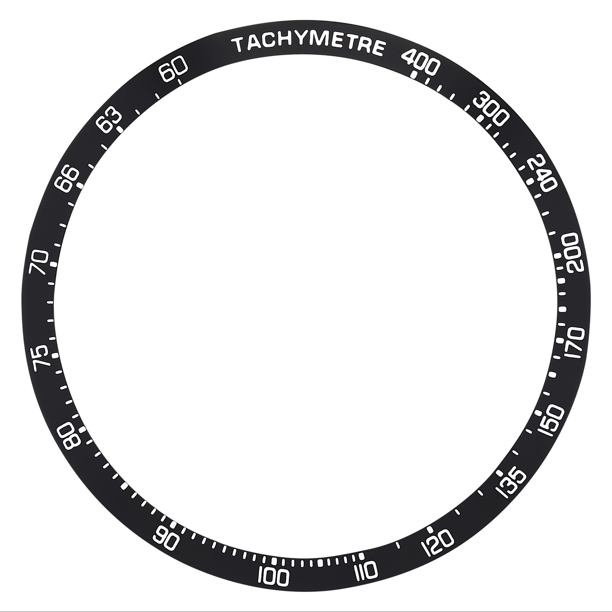 REPLACEMENT BEZEL INSERT BLACK FOR WATCH 40MM X 33MM