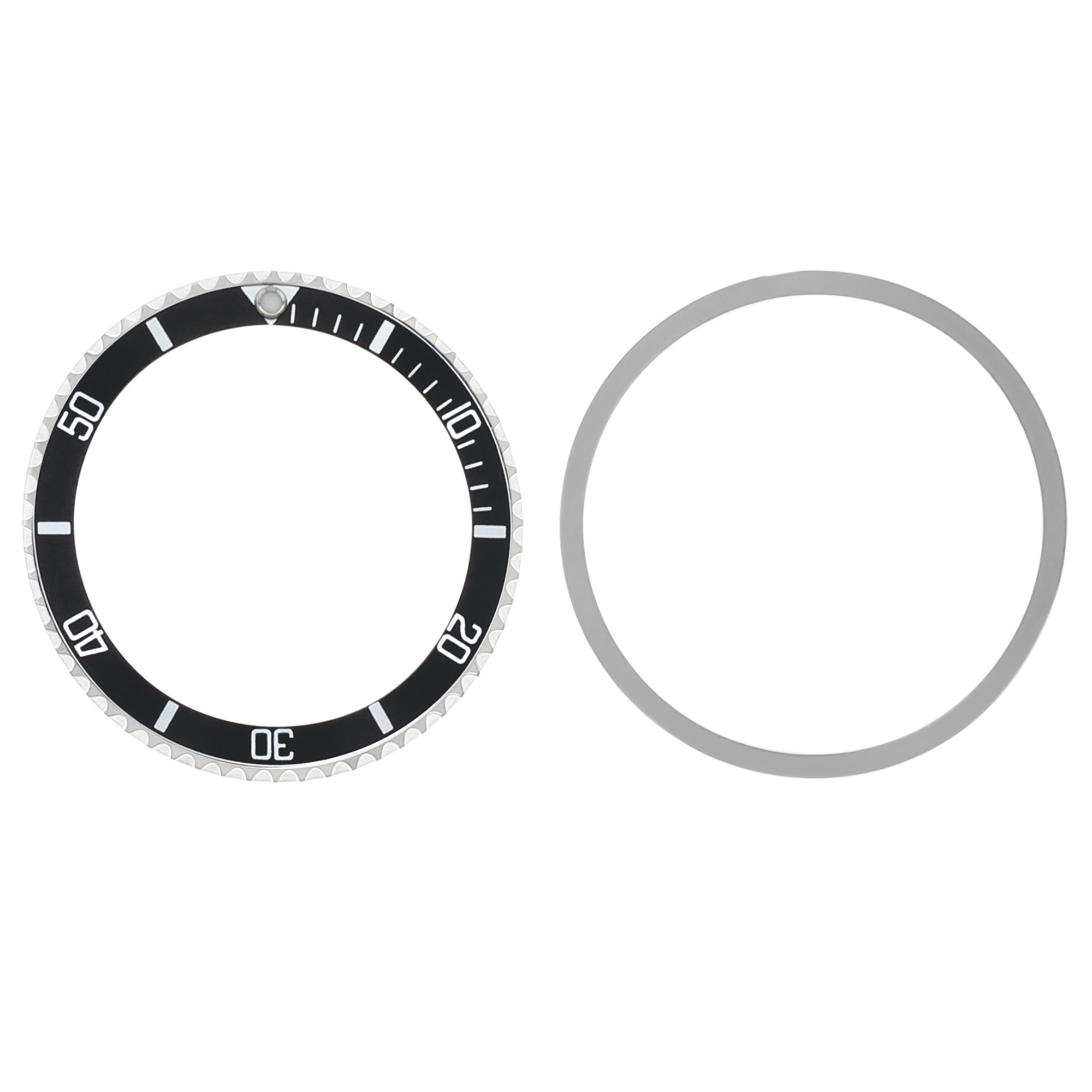 BEZEL RING COMPLETE FOR ROLEX SUBMARINER + TENSION + INSERT 5508 5513 BLACK