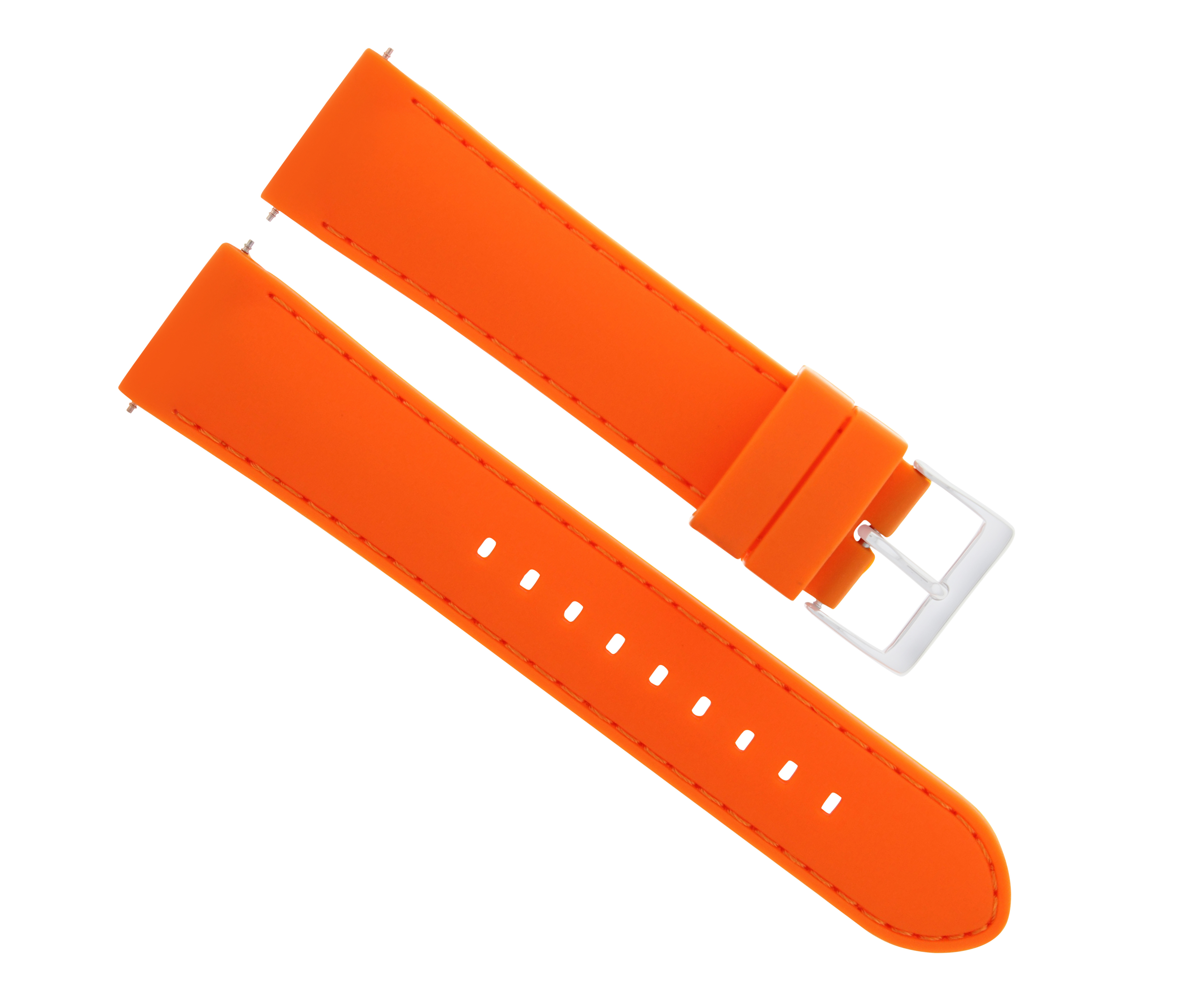 20mm Rubber Silicone Watch Band Strap For 43mm Tissot V8 Chronograph
