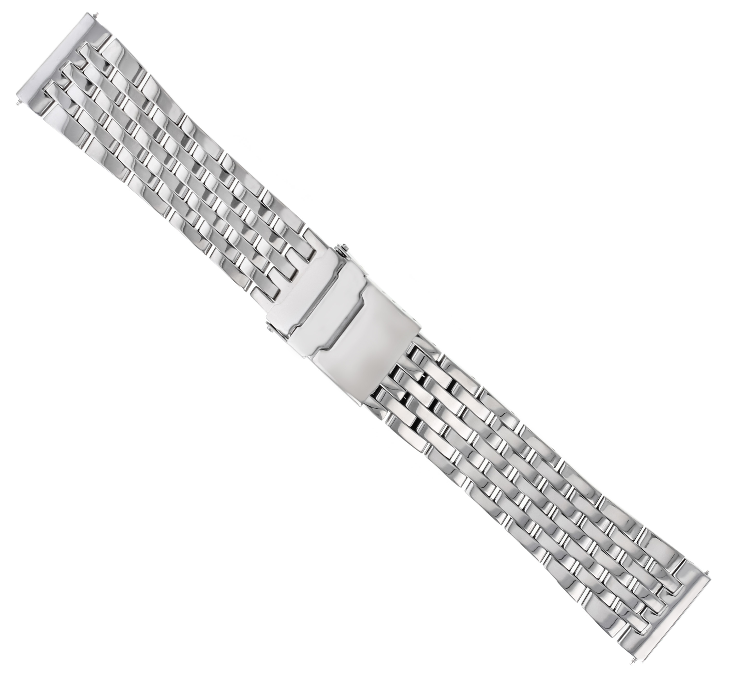 22MM WATCH BAND BRACELET FOR BREITLING NAVITIMER A13322 7 LINK STAINLESS S SHINY