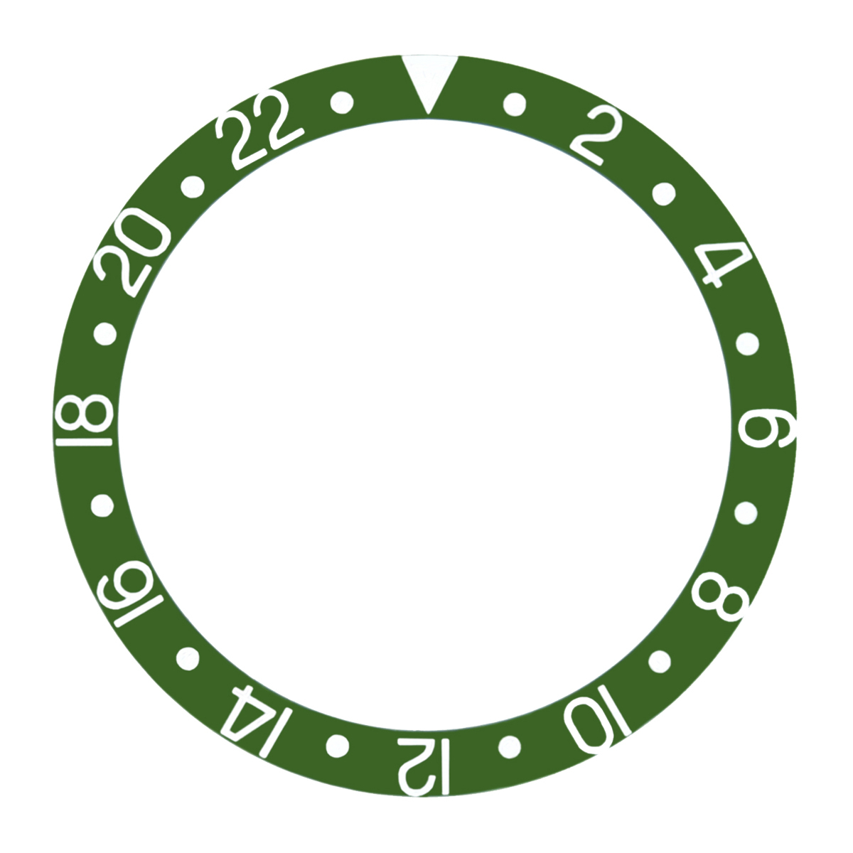 REPLACEMENT BEZEL INSERT GREEN FOR WATCH 37.70MM X 30.70MM