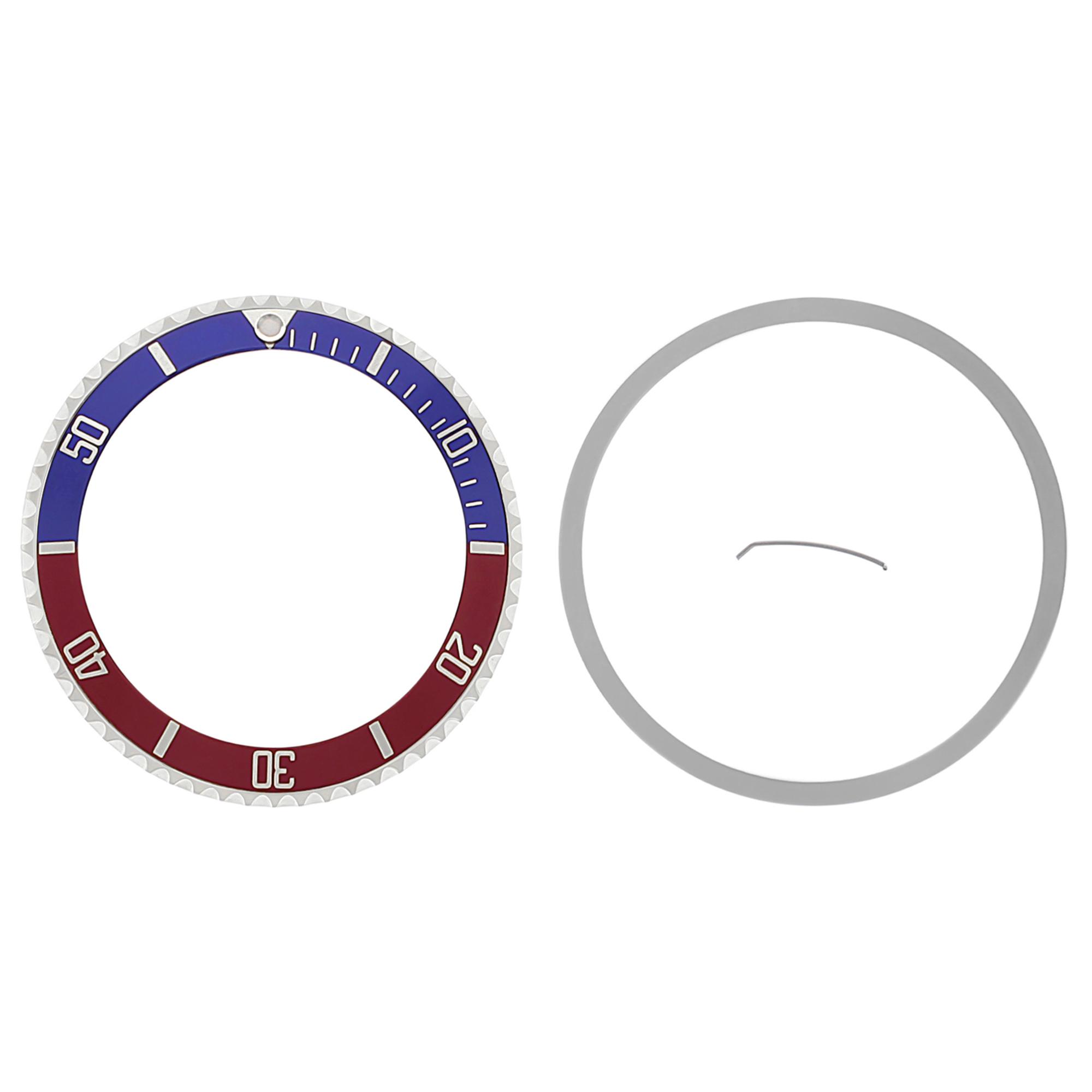 BEZEL + INSERT FOR ROLEX SUBMARINER 16800 16808 16813 16818 16613 BLUE/RED PEPSI