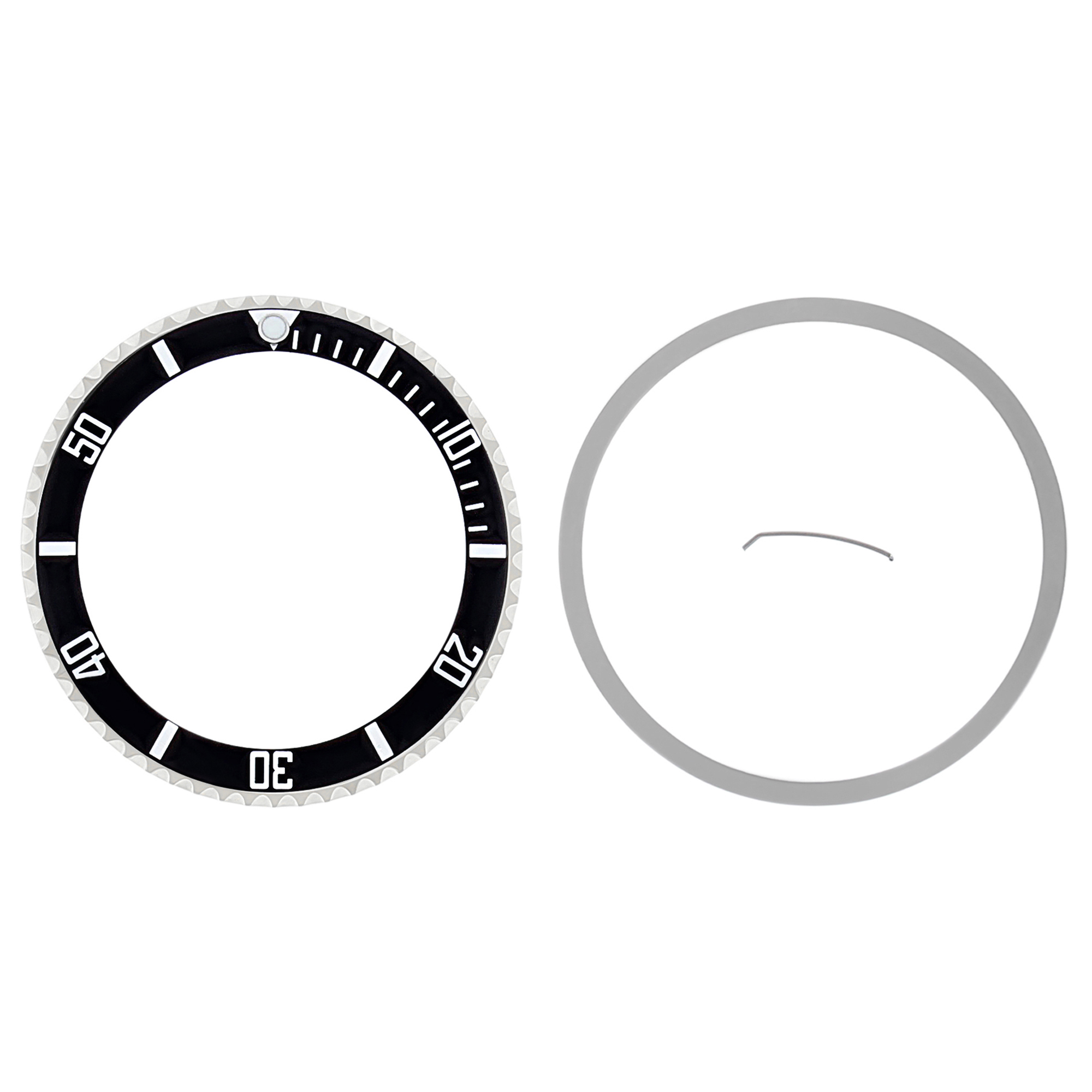 BEZEL COMPLETE FOR ROLEX SUBMARINER + TENSION + INSERT 16800 16808 16610 BLACK
