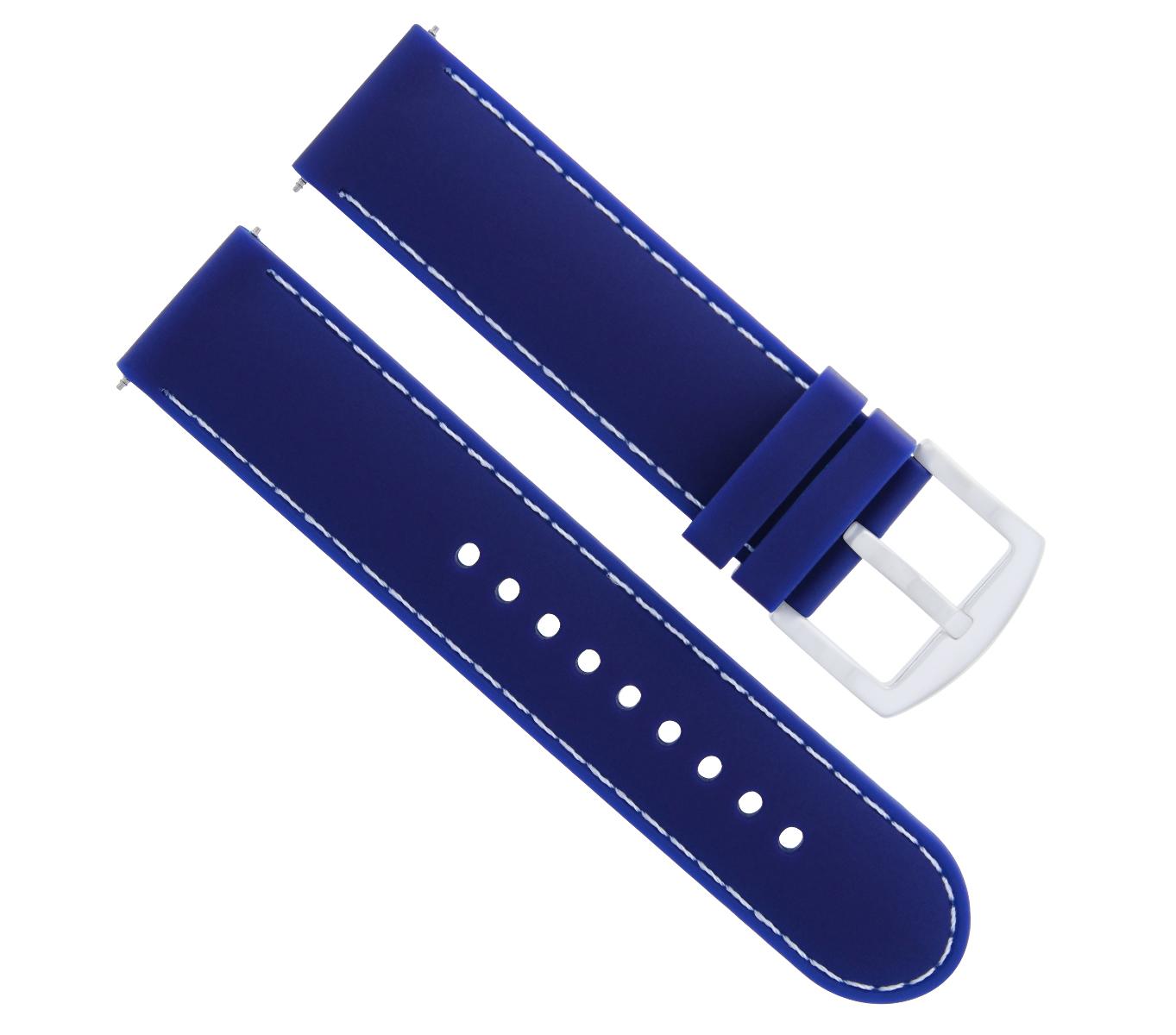 22MM RUBBER WATCH BAND STRAP FOR SEIKO WATCH SKX007 SKX009 SKX175 SKX176 BLUE WS