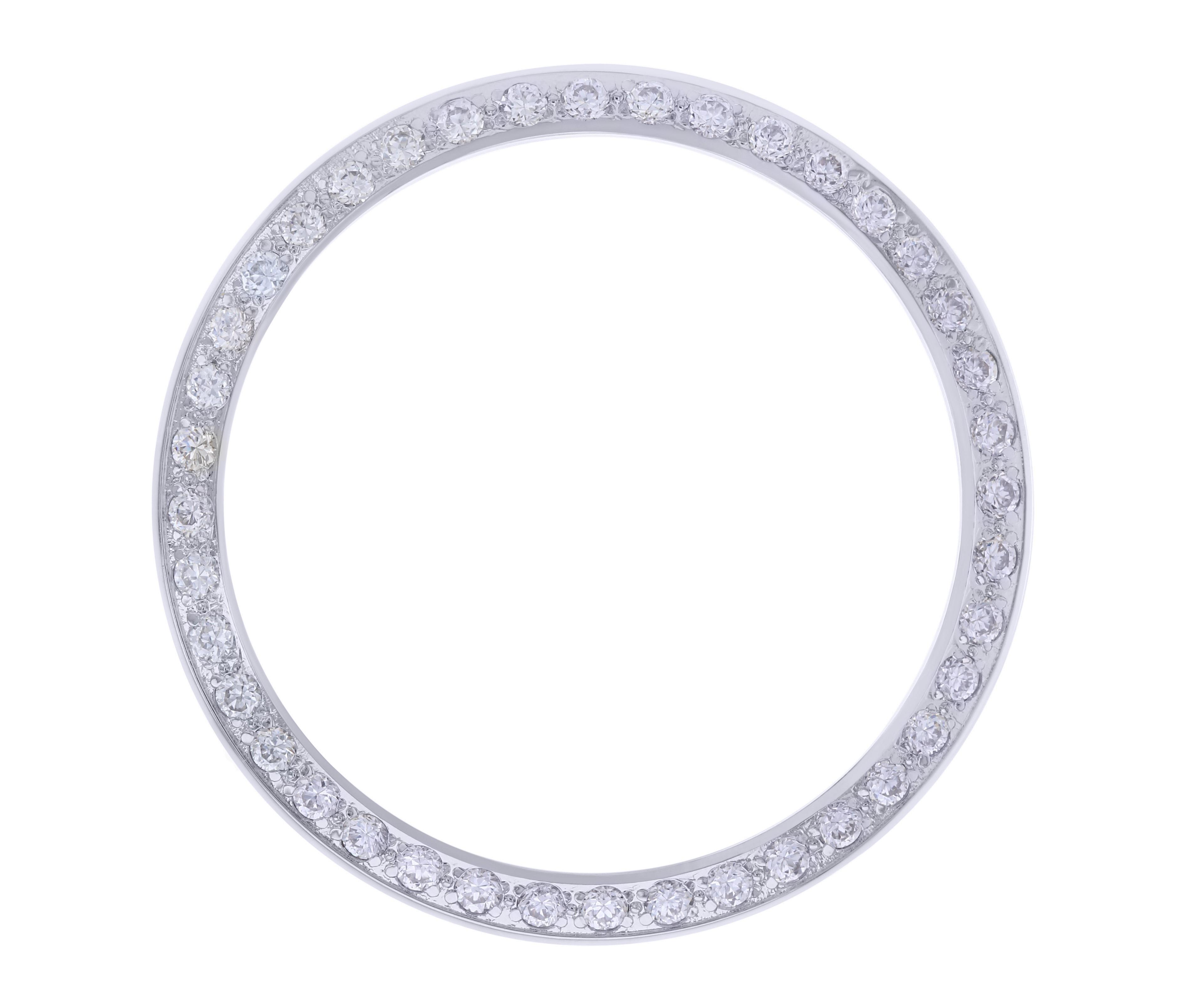 CREATED DIAMOND BEZEL FOR 36MM ROLEX TUDOR BLACK BAY AUTOMATIC WATCH WHITE