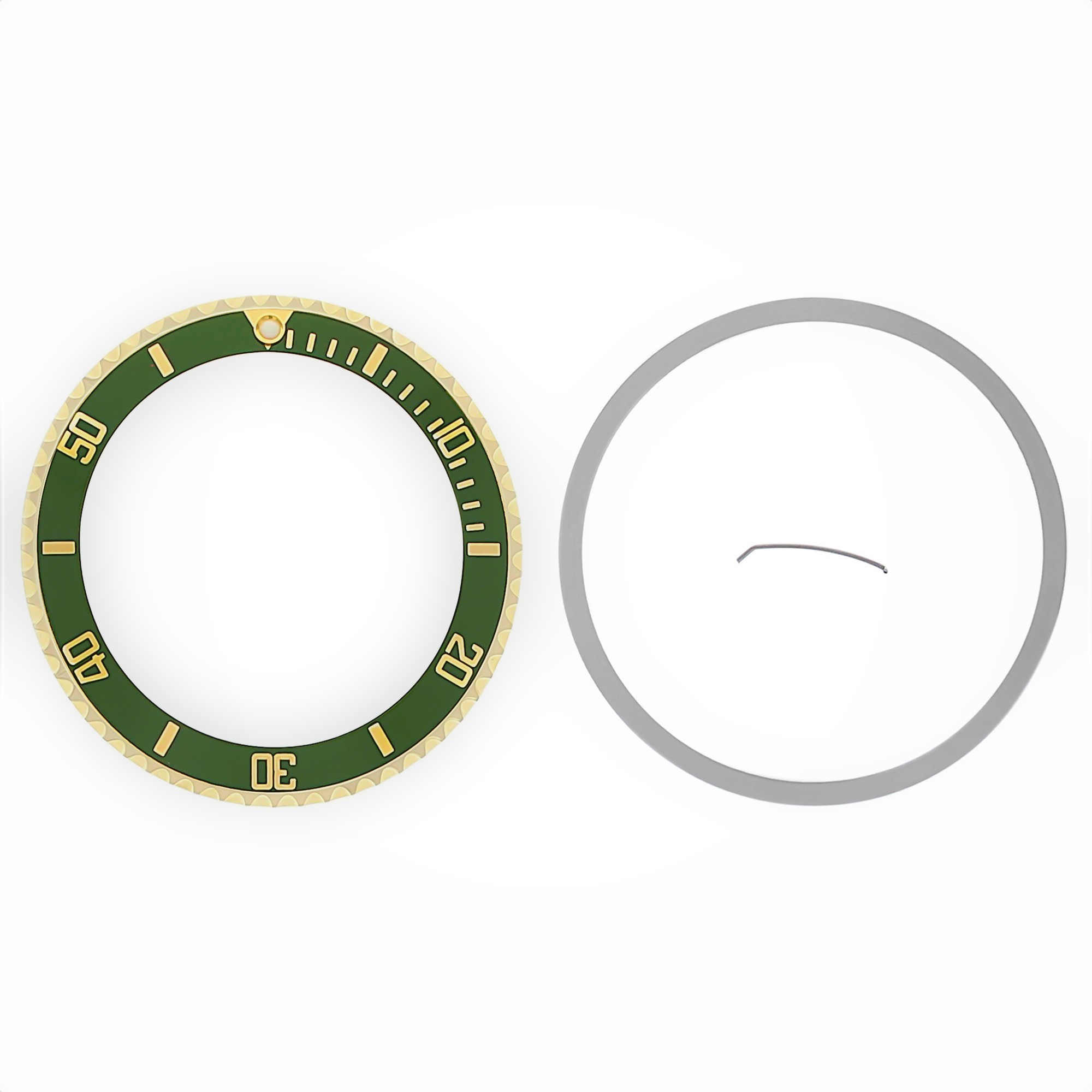BEZEL & INSERT FOR ROLEX SUBMARINER 18K 16800 16810 16808 16613 16818 GREEN TQ