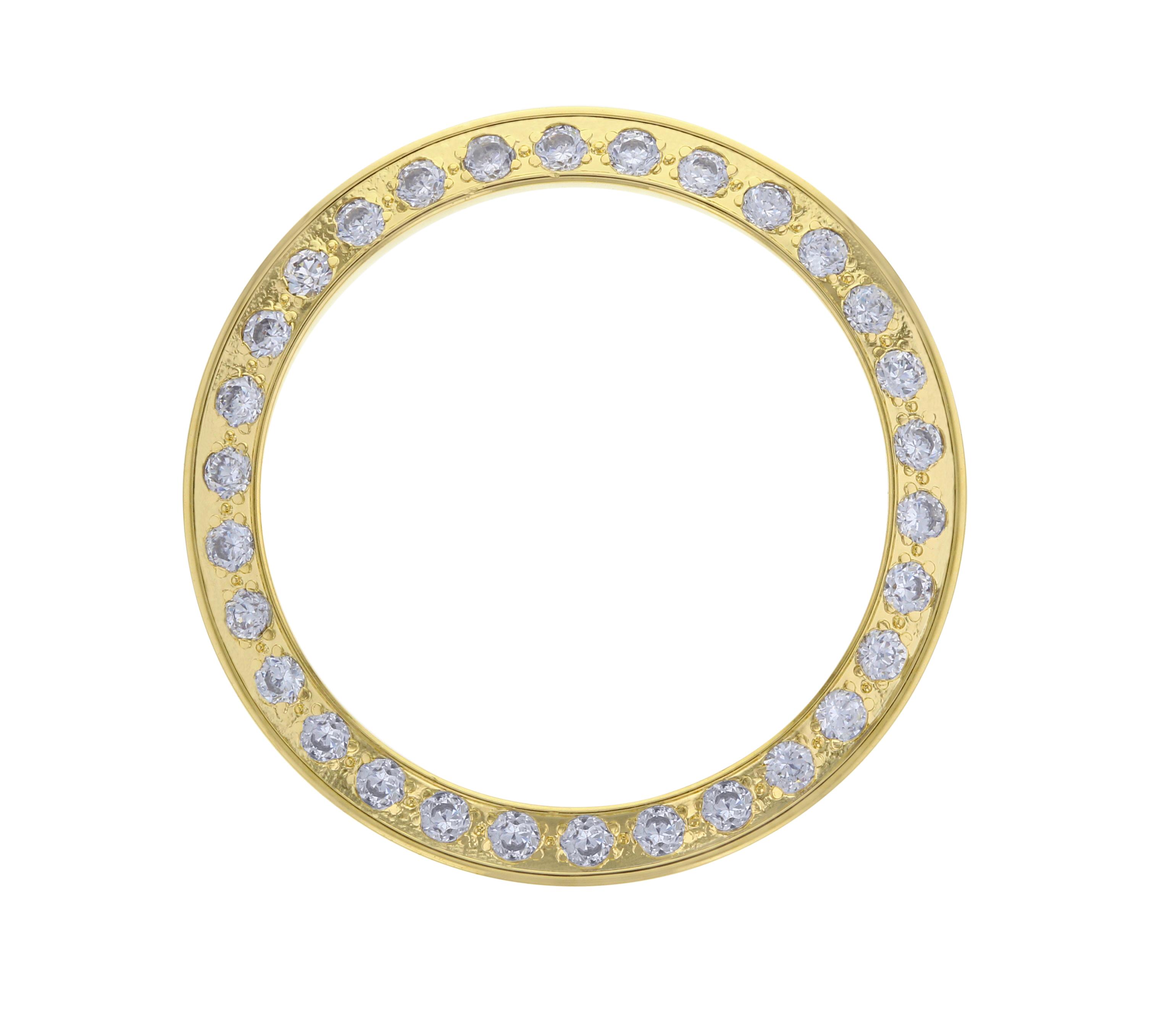 GOLD GP CREATED DIAMOND BEZEL FOR ROLEX  PRESIDENT 6917 69000 69178 79138 LADY