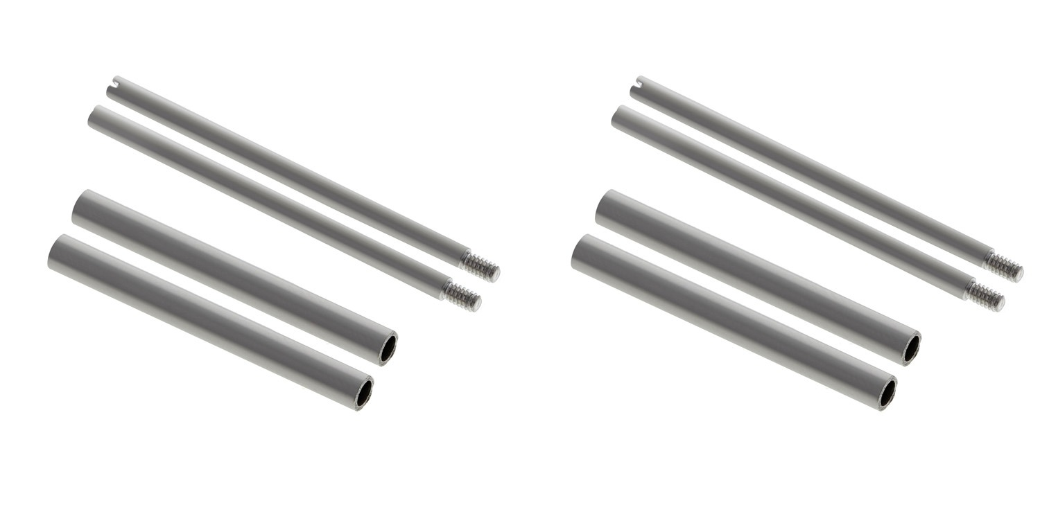 4 + 4 SCREW + TUBES FOR 40MM PANERAI 22MM BAND LEATHER/RUBBER STRAPS-316L SWISS