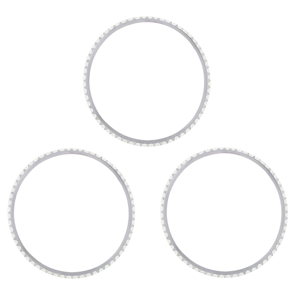 3 STEEL BEZEL RING INSERT FOR OLDER ROLEX 1680 5508 5512 5513 5517 WATCH MODELS
