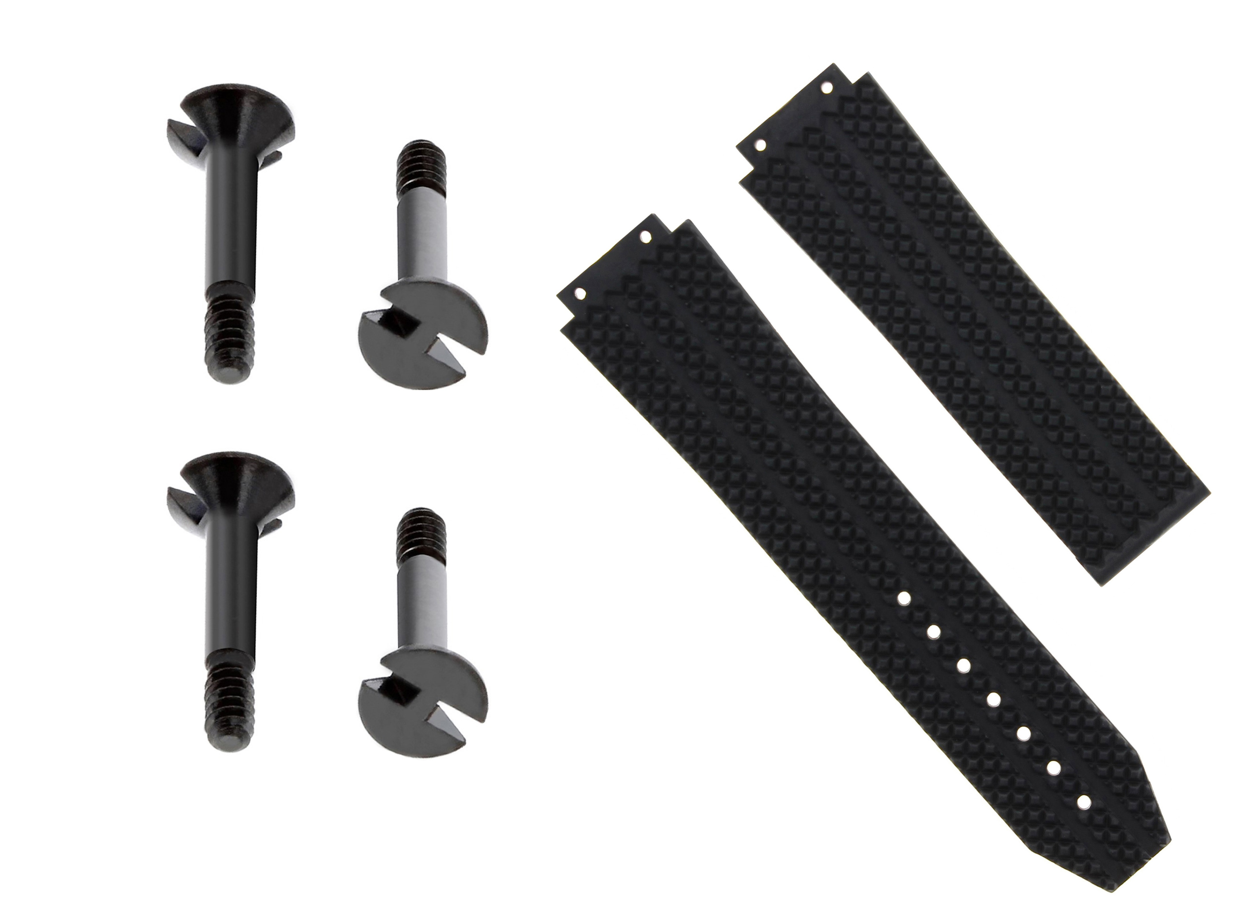 24Mm Silicone Rubber Strap Band Clasp For Hublot Big Bang 301.Sx.130.Rx White 6H