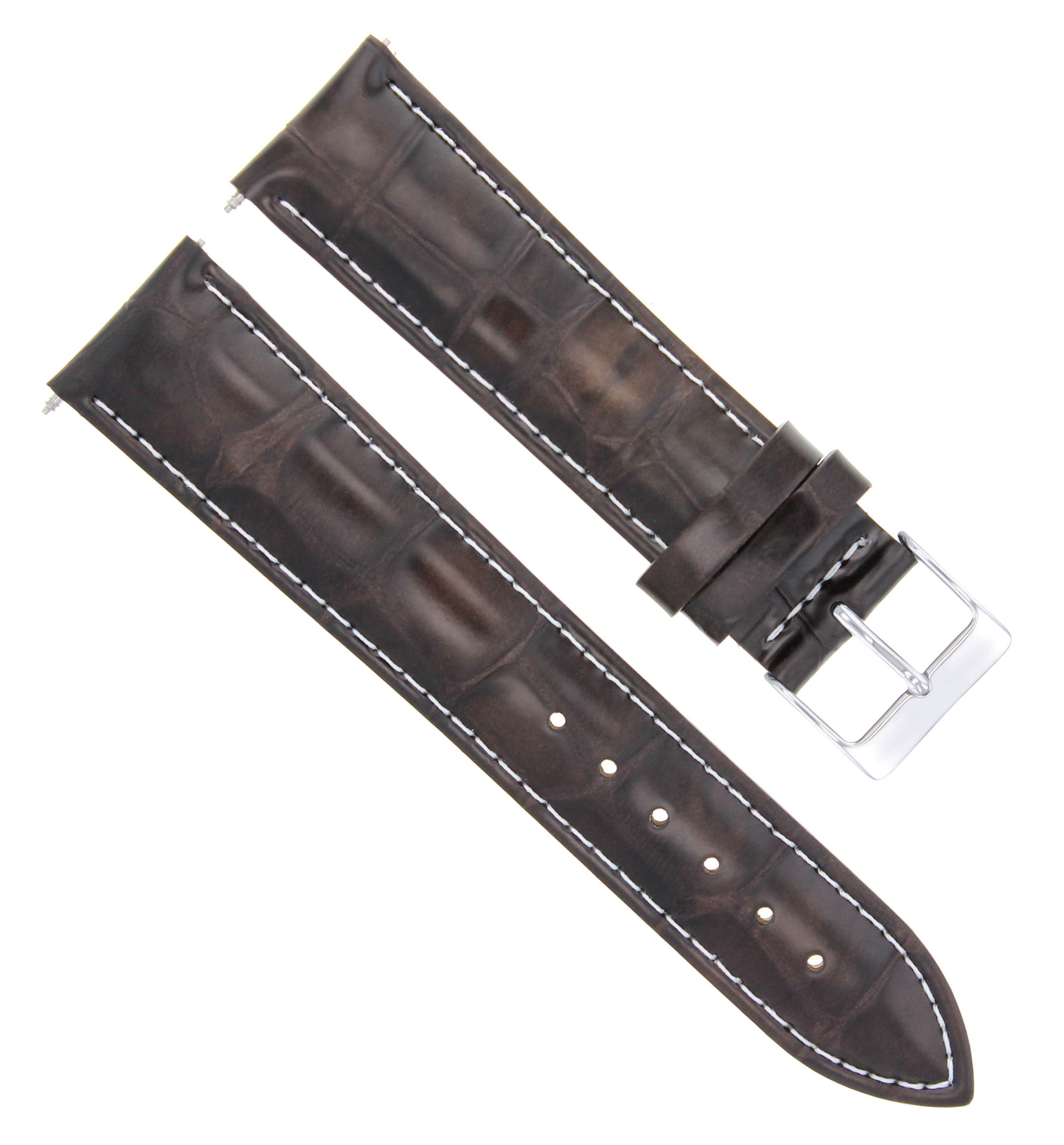 19/16 MM LEATHER WATCH STRAP BAND FOR 34MM ROLEX DATE AIR KING WATCH D/BROWN WS