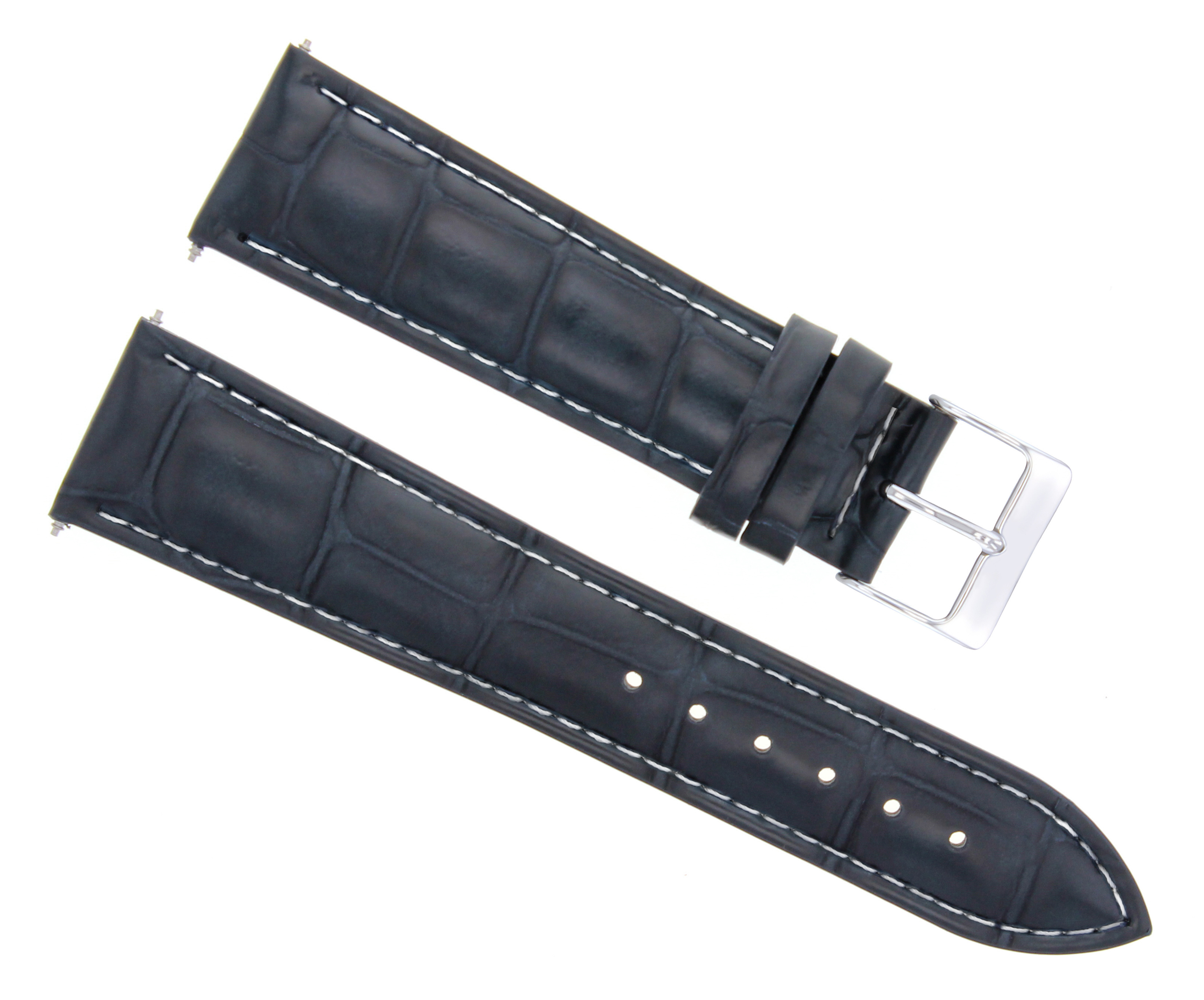 87319bbb81d Details about 20MM LEATHER WATCH STRAP BAND FOR DUNHILL DARK BLUE WS