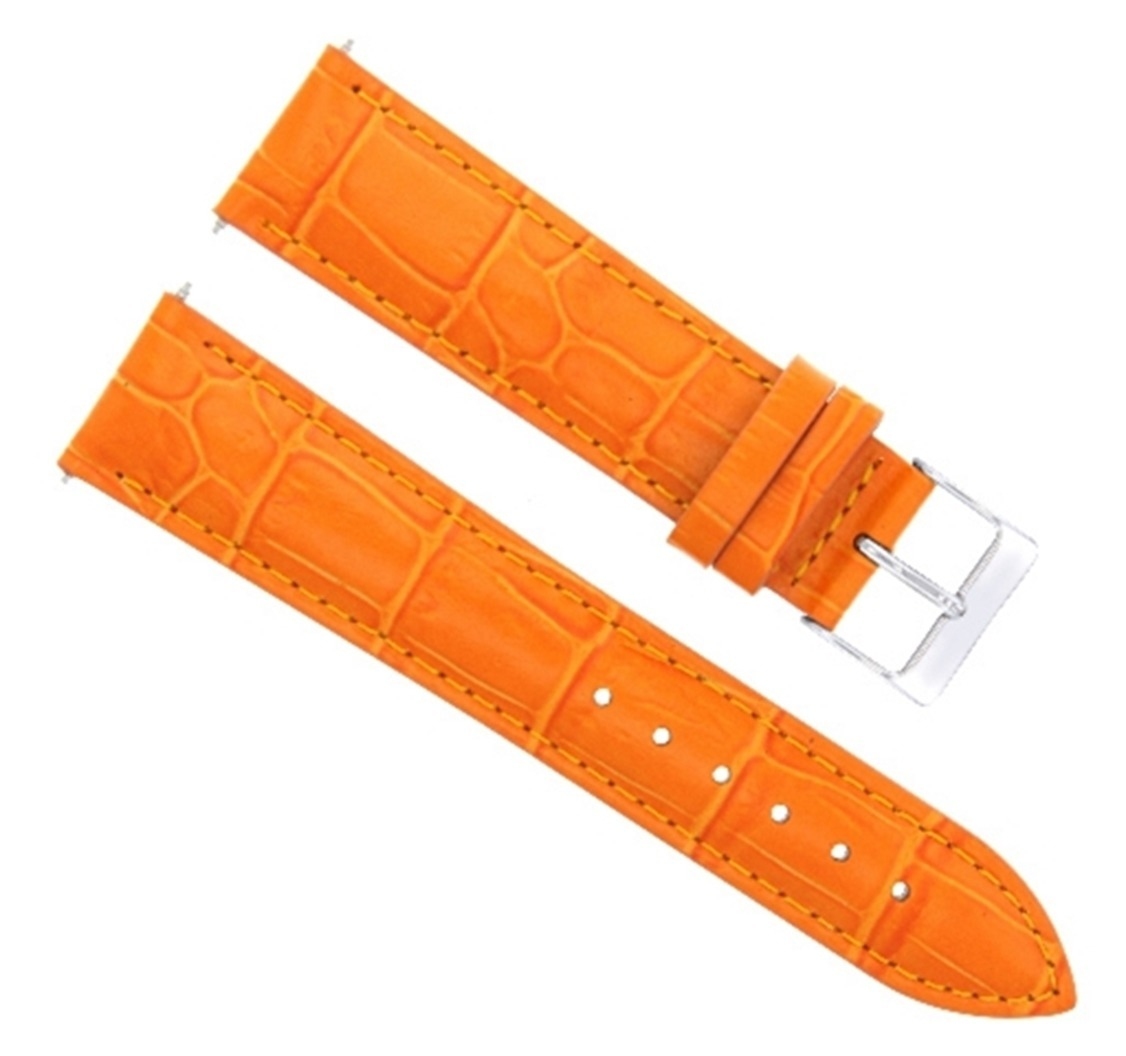 18MM ITALIAN GENUINE LEATHER WATCH BAND STRAP FOR ROLEX CELLINI WATCH ORANGE