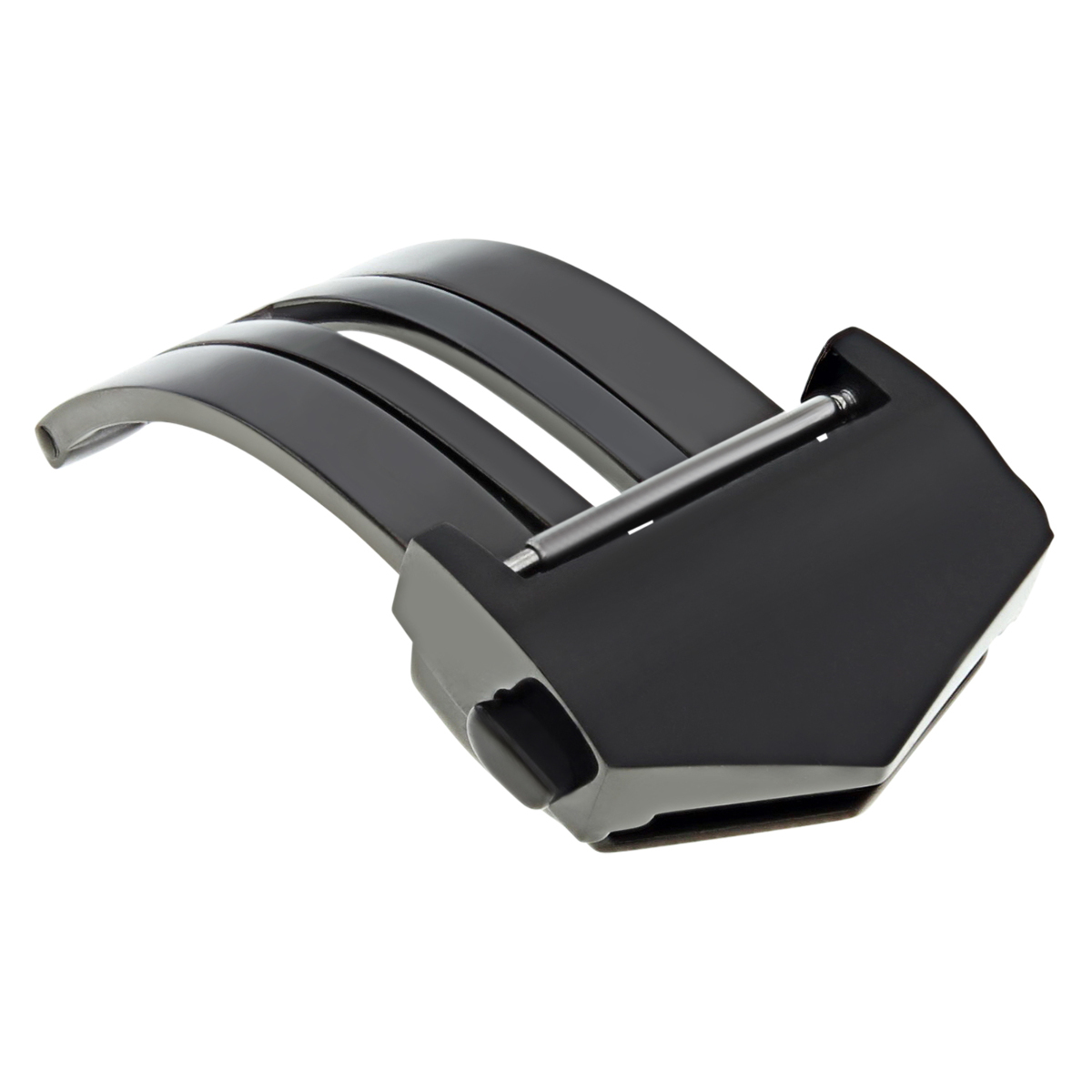 FOR LEATHER BAND RUBBER STRAP FOR TAG HEUER DEPLOY CLASP 20/22 CARRERA BLACK