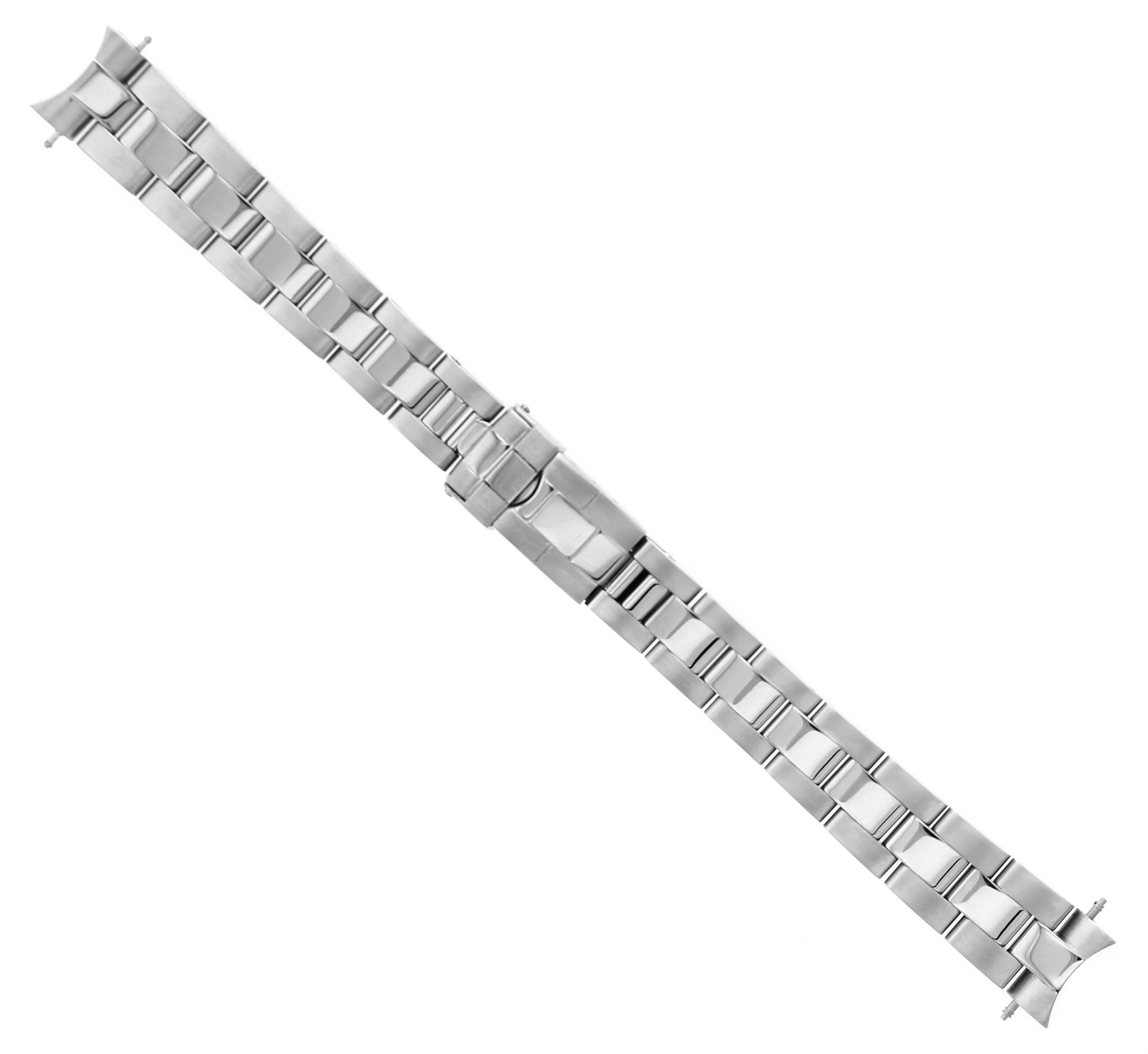 14MM OYSTER WATCH BAND FOR ROLEX LADY  YACHTMASTER SHINY CENTER SOLID END PIECE
