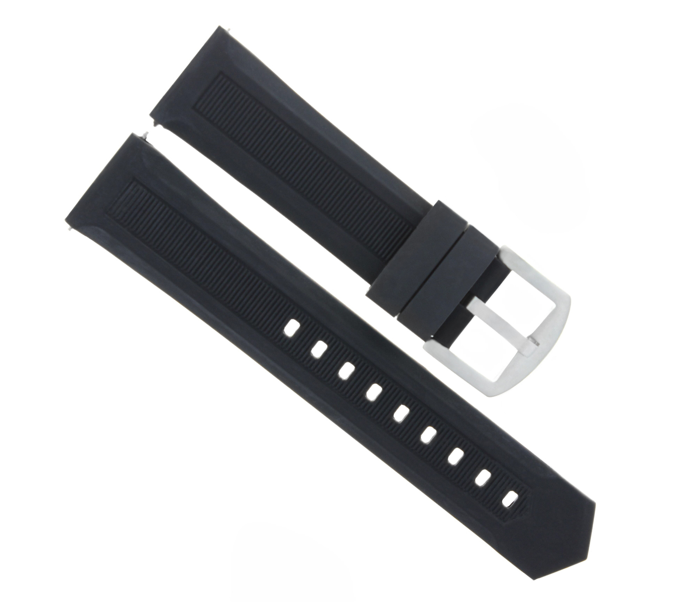 70e9ba840f65 Details about 22MM RUBBER WATCH BAND STRAP FOR TAG HEUER FORMULA F1  AQUARACER BLACK
