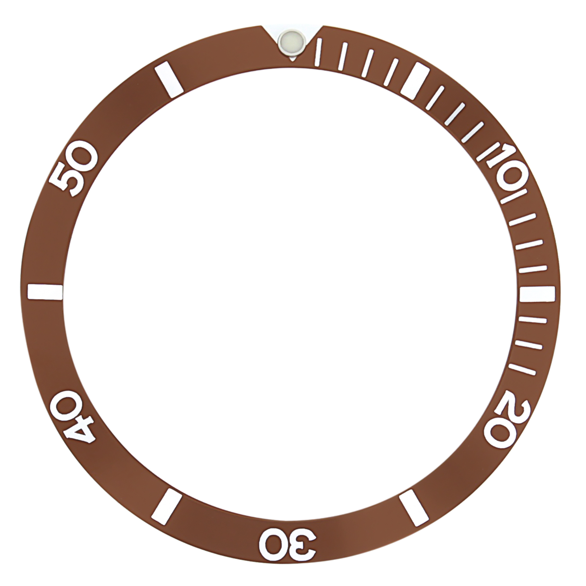 REPLACEMENT BEZEL INSERT BROWN FOR WATCH 37MM X 30.70MM