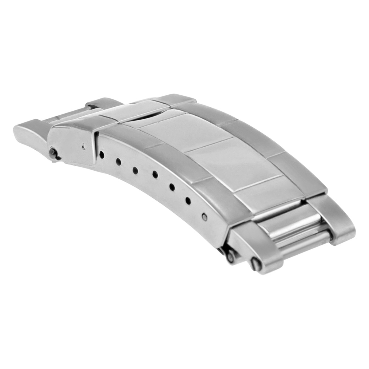 FLIP LOCK CLASP BUCKLE FOR ROLEX SUBMARINER OYSTER WATCH BAND SHINY /CENTER