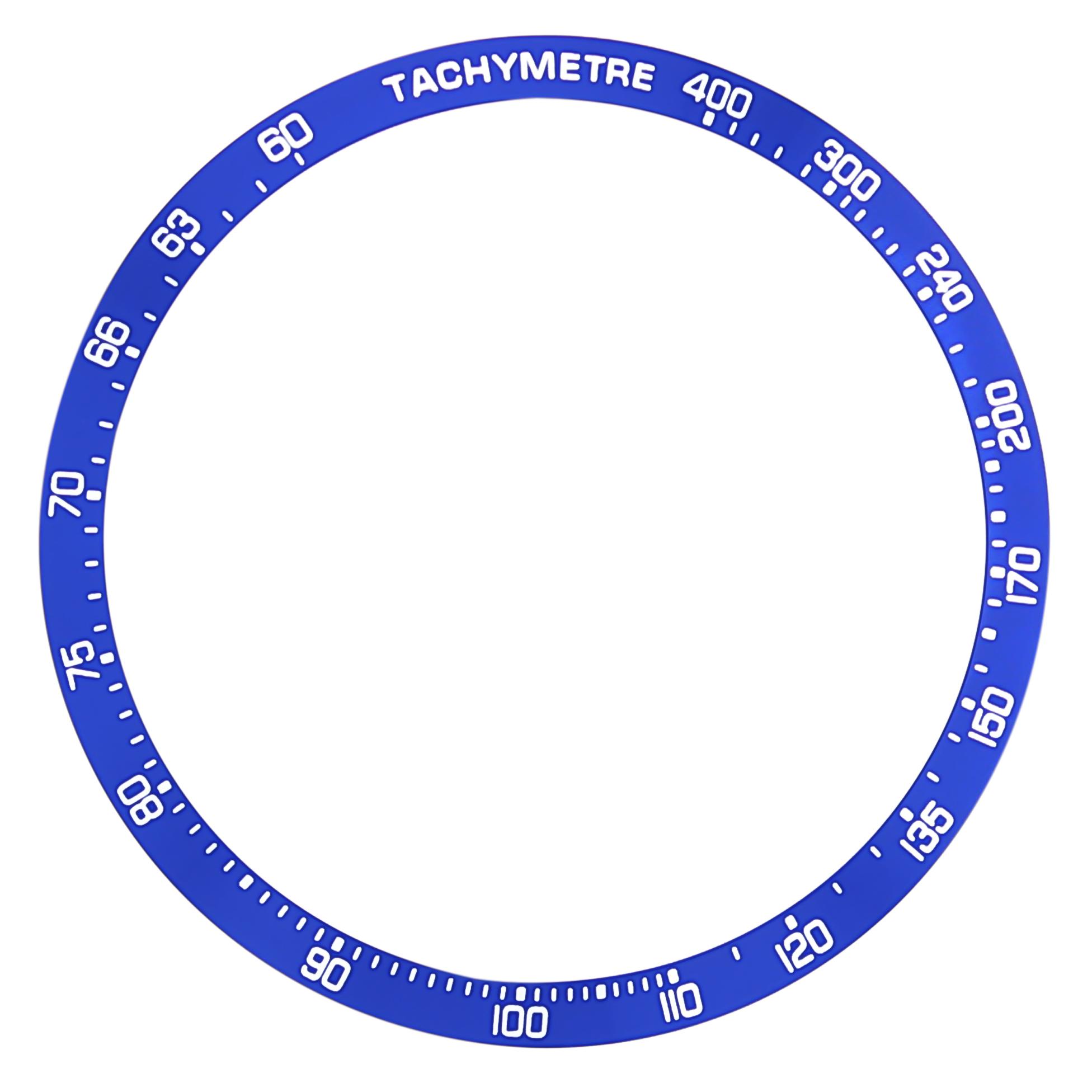 REPLACEMENT BEZEL INSERT BLUE FOR WATCH 42.80MM X 37.30MM