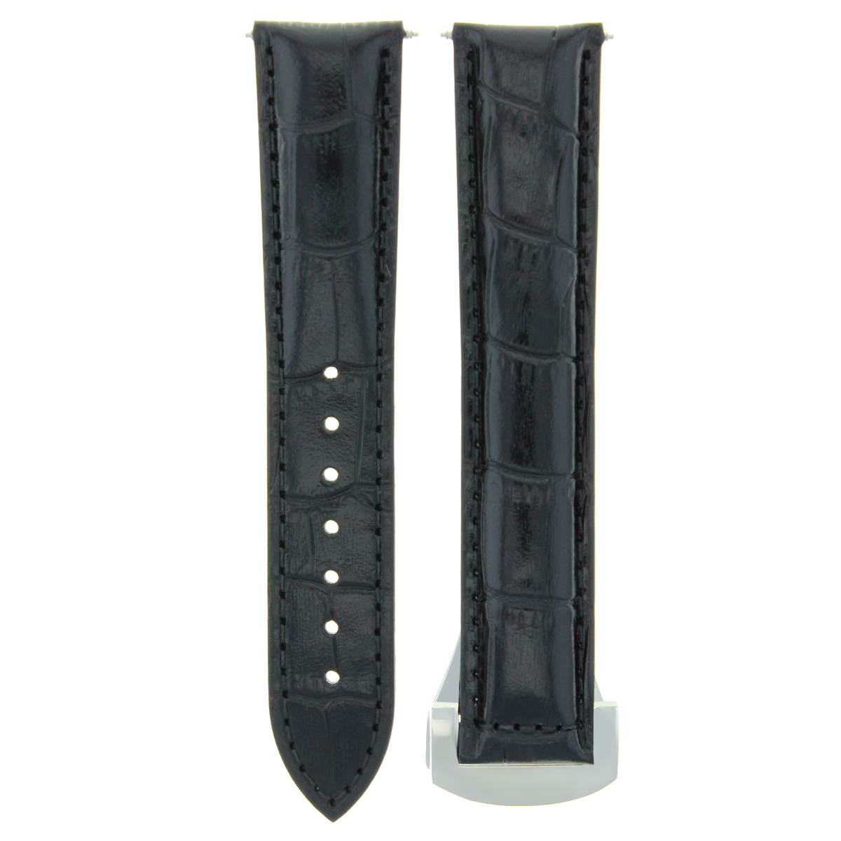 20MM LEATHER STRAP WATCH BAND FOR  ORIS ARTIX CHRONO WATCH DEPLOYMENT CLASP