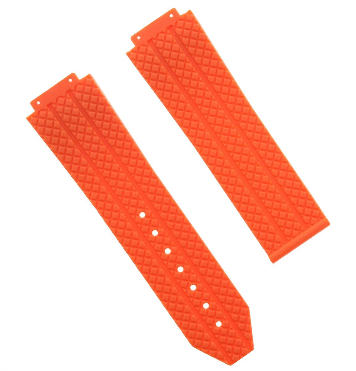 4 Screw White 6Hsc 24Mm Rubber Band Strap For Hublot 44-45Mm H Big Bang