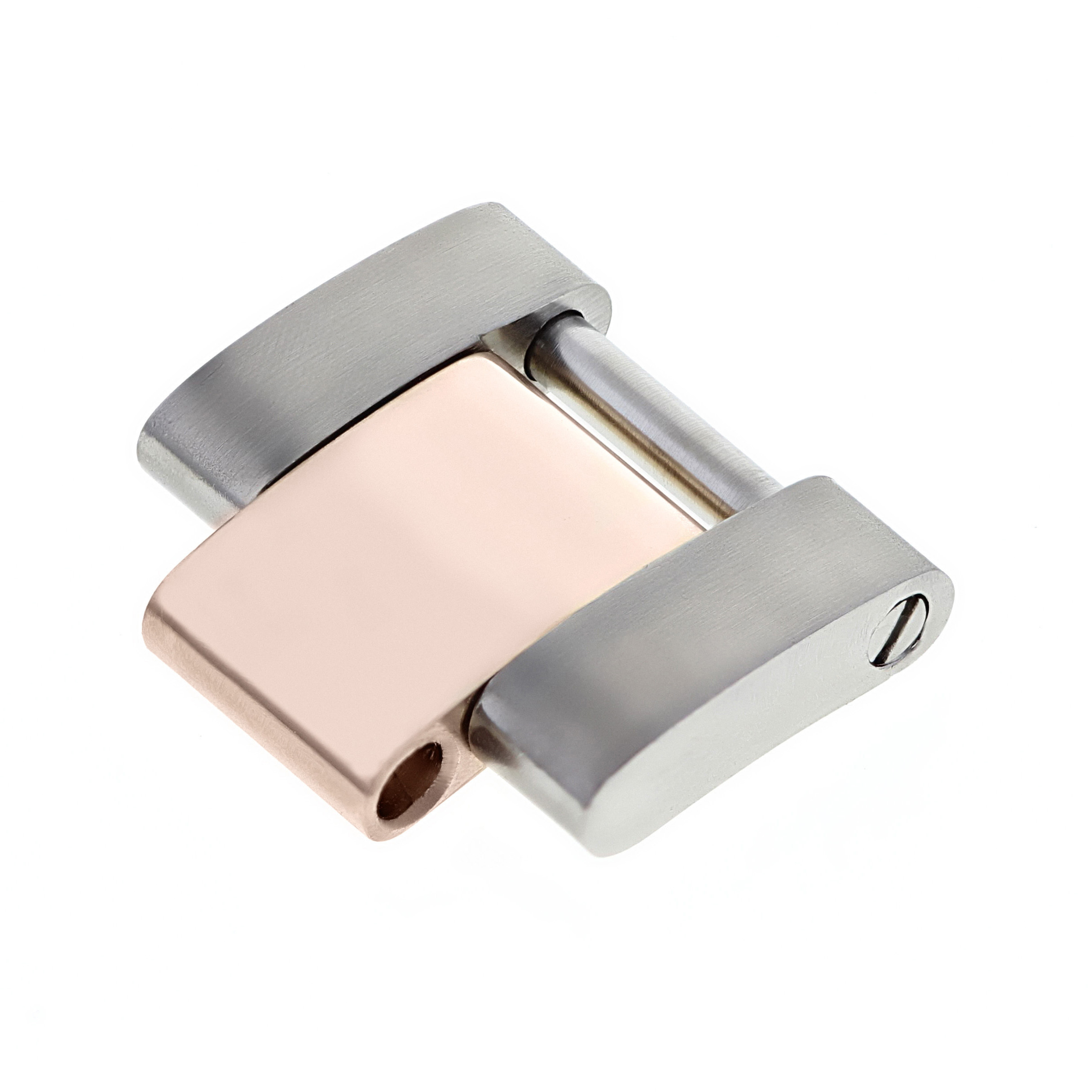 ROSE REAL18K/SS SOLID GOLD OYSTER WATCH BAND LINK FOR ROLEX MIDSIZE 17834 178341