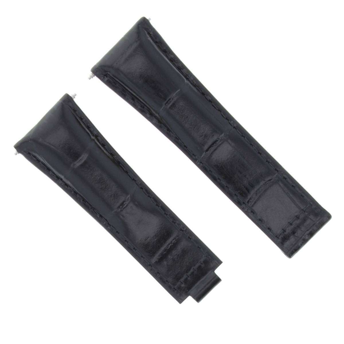 20MM LEATHER WATCH STRAP BAND FOR ROLEX DAYTONA 16518 16519 16520 BLACK SHORT