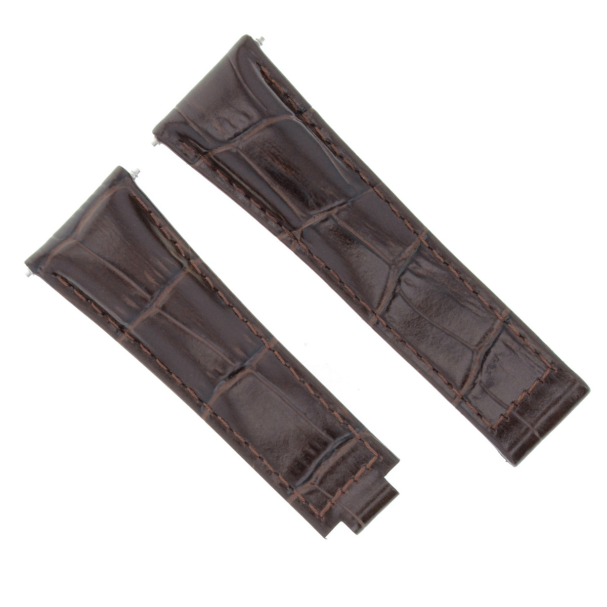 LEATHER WATCH STRAP BAND FOR ROLEX DAYTONA 16518 16519 16520 16528 D/BROWN SHORT