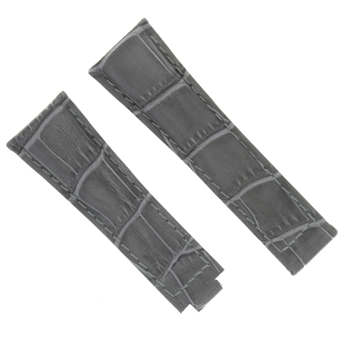 20MM LEATHER WATCH STRAP BAND FOR ROLEX DAYTONA 16518 16519 16520 GREY SHORT