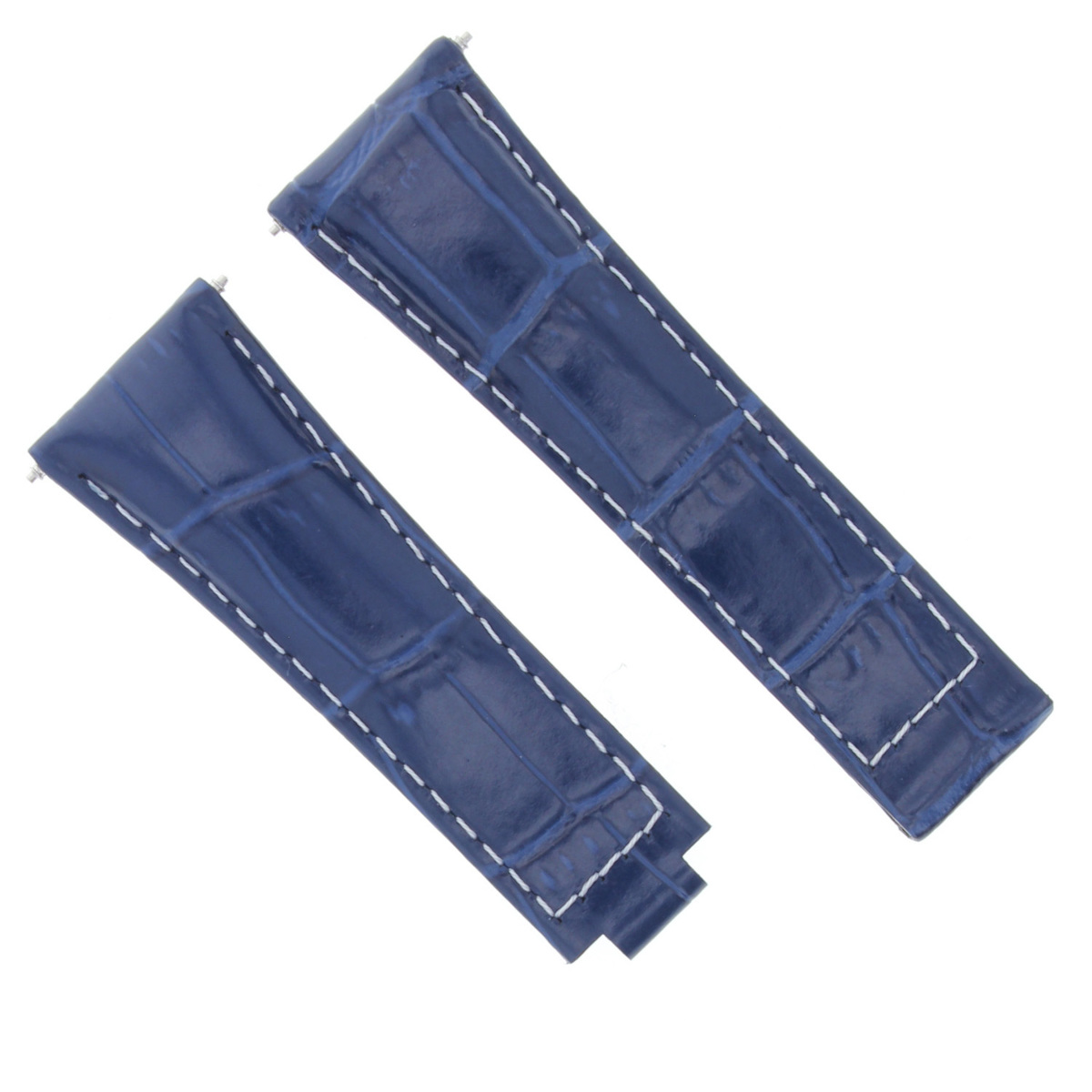 LEATHER STRAP WATCH BAND FOR ROLEX DAYTONA 16518 16519 16520 16523 16528 BLUE WS