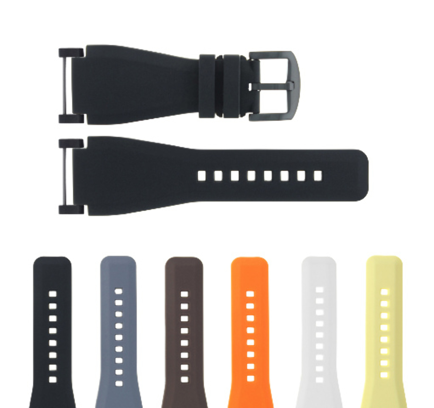 24MM SUUNTO CORE RUBBER SILICONE REPLACEMENT WATCH BAND STRAP + BLACK ADAPTER