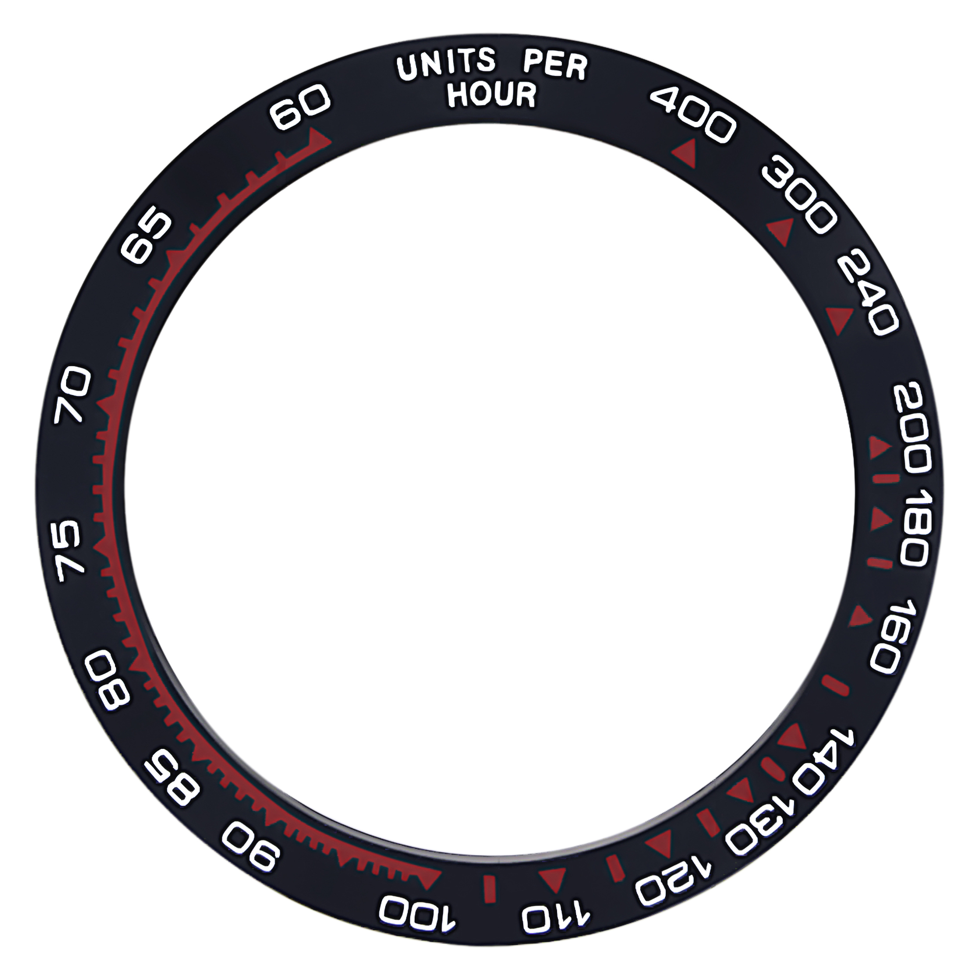CERAMIC BEZEL FOR ROLEX DAYTONA ENGRAVED 16500 16520 116500 116520  BLACK/RED TQ