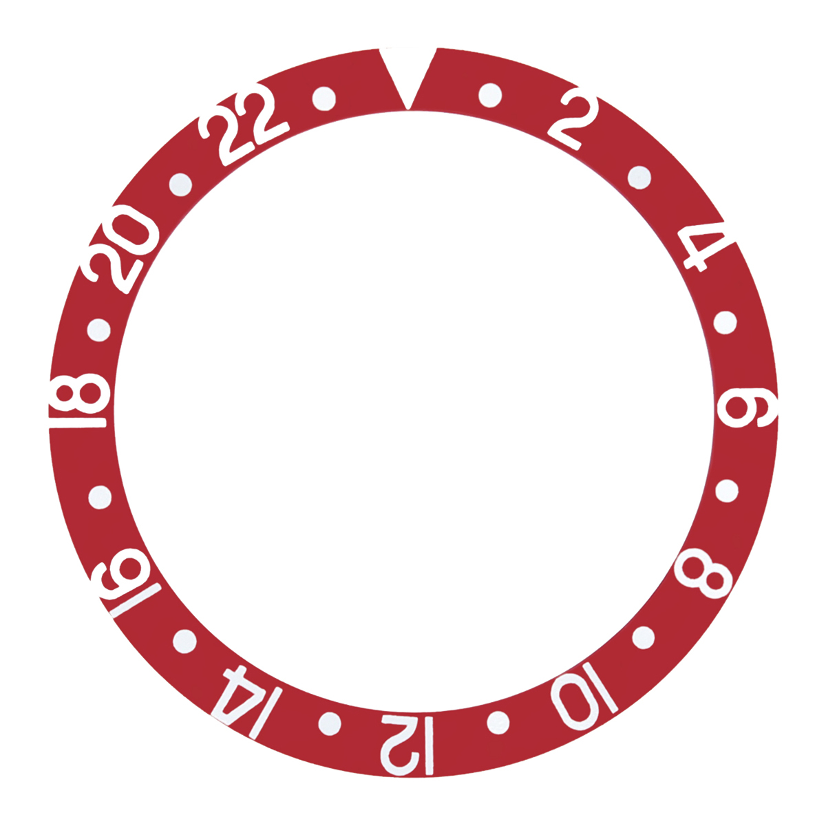 REPLACEMENT BEZEL INSERT RED FOR WATCH 37.80MM X 30.20MM