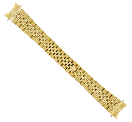 20MM JUBILEE WATCH BAND SOLID LINK FOR ROLEX 116200 SOLID HIDDEN CLASP GOLD COLOR
