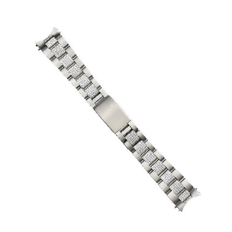 OYSTER WATCH BAND FOR MENS 36MM ROLEX DATEJUST 16013 16233 WITH CZ CENTER STONES