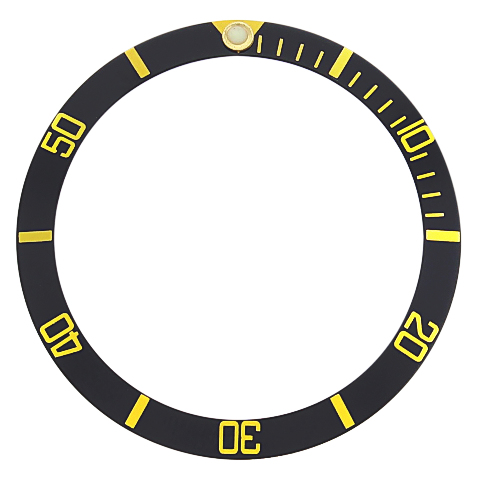 BEZEL INSERT FOR TAG HEUER 2000 972.006 973.006, 974.006F 272.006 BLACK GOLD