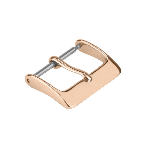 22MM ROSE COLOR WATCH BUCKLE CLASP FOR LEATHER RUBBER WATCH BAND STRAP