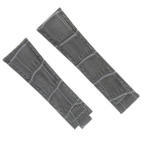LEATHER STRAP WATCH BAND FOR ROLEX DAYTONA 16518 16519 116520 116523 116528 GREY
