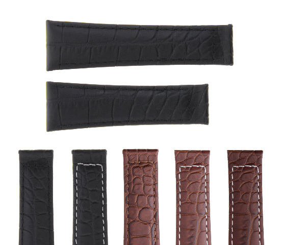 20MM CROC LEATHER WATCH BAND STRAP FITS ROLEX DAYTONA 16518, 16519 MATTE FINISH