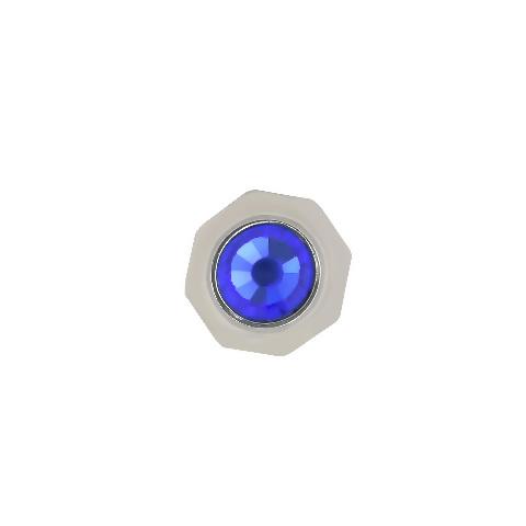 WATCH CROWN FOR FIT MENS CARTIER TANK FRANCAISE  SANTOS 6.5MM SAPPHIRE BLUE STEEL