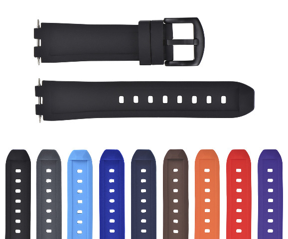 REPLACEMENT SILICONE RUBBER DIVER WATCH STRAP BAND FOR PEBBLE WATCH STEEL