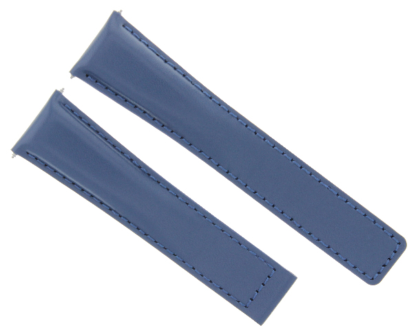 20/16MM LEATHER WATCH STRAP BAND DEPLOYMENT CLASP FOR TAG HEUER MONZA WATCH BLUE