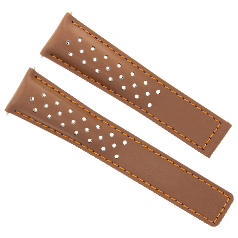 LEATHER WATCH STRAP 22MM FOR TAG CARRERA MONACO SPORTS TAN OS FIT FC-5037-39R