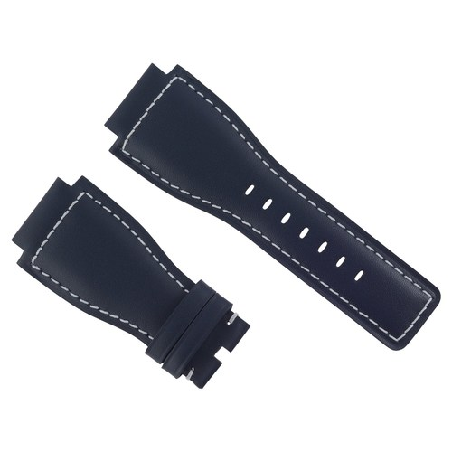 24MM GENUINE WATCH BAND STRAP SMOOTH BAND FOR BELL ROSS BR-01-BR-03 BLUE WS