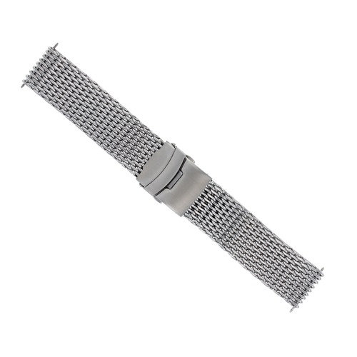 18-20-22-24mm HEAVY SHARK MESH BAND STAINLESS STEEL CLASP FOR SEIKO KINETIC TQ
