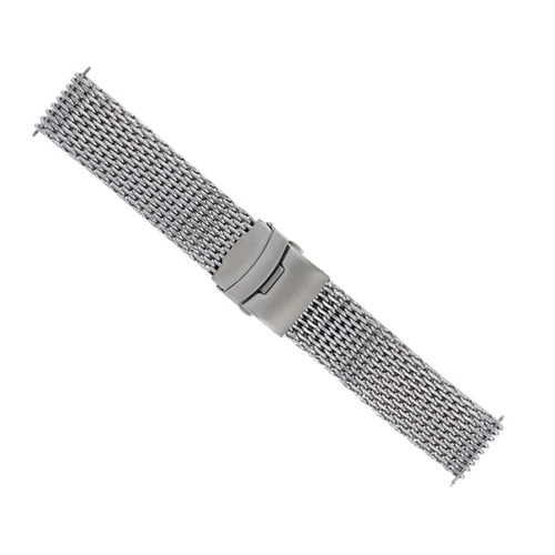 22MM SHARK MESH STAINLESS STEEL WATCH BAND STRAP BAND FOR BREITLING THICK HEAVY