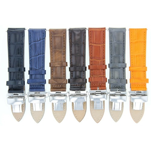 17,18,19,20,20,21,22,23,24MM LEATHER BAND STRAP CLASP FOR STUHRLING AQUA WATCH