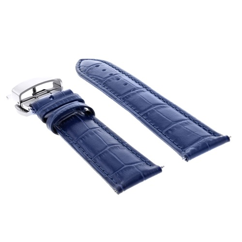 23MM LEATHER WATCH BAND STRAP FOR CITIZEN ECO DRIVE BLUE ANGEL AT8020-54L BLUE